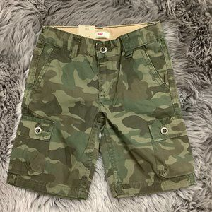 Levi's | Boy's Cargo Shorts | Green Camo